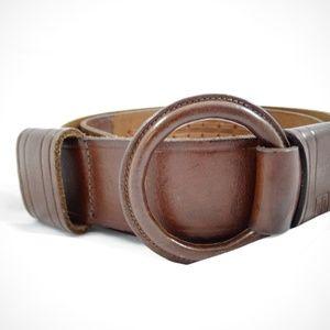 Brown Leather Belt Size Large Ralph Lauren